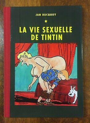 La vie sexuelle de Tintin +lithographie+cadre - Parodie/Pastiche num. signé NEUF