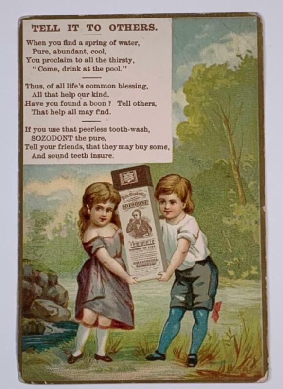 Victorian Trade Card Sozodont Tooth Paste