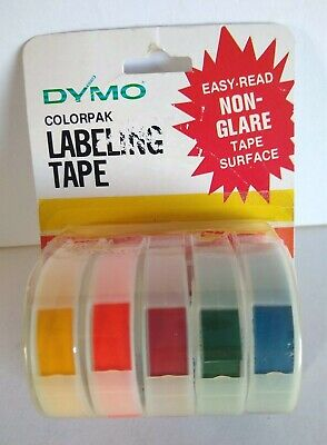 Dymo Colorpak Labeling Tape Pk Of 5 Different Rainbow Colors Non-glare 7284-14