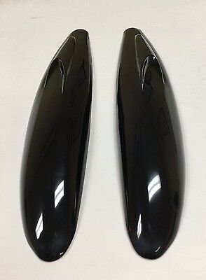 2 PC BLACK CAR FRONT REAR BUMPER GUARD SCRATCH CORNER PROTECTOR  STRIP MOLDING