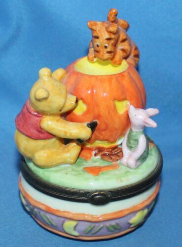 Disney Winnie The Pooh Happy Halloween Hinged Trinket Box Midwest Cannon Falls