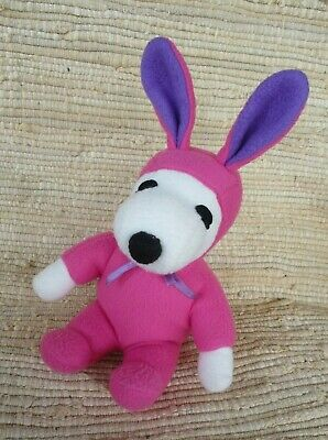 Peanuts Gang Snoopy Dog Wearing Pink Bunny Costume 8