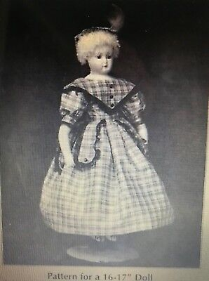 ANTIQUE HURET FRENCH FASHION DOLL DRESS,HAT,CAMISOLE,HOOPED SLIP,DRAWERS PATTERN