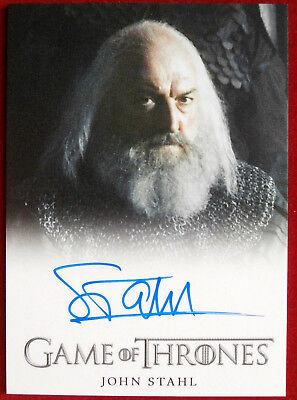 GAME OF THRONES - JOHN STAHL, Rickard Karstark - AUTOGRAPH Card - 2013