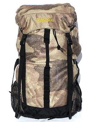 Cabelas Mens Quiet Camp Outfitter Camo 3D Blaze Hunting 1400 Hunting Back Pack
