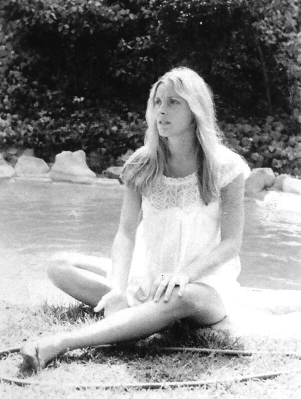 Sharon Tate Sitting On The Bank Of The River 8x10 Photo Print