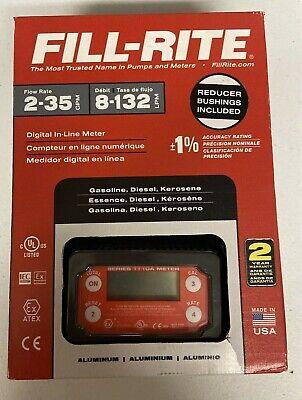 Fill-rite Tt10an-npt 1 2-35gpm Digital In-line Turbine Meter - Newopen Box