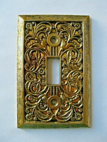 VINTAGE EDMAR CREATIONS FILIGREE LIGHT SWITCH PLATE COVER