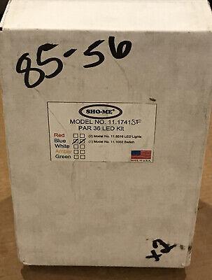 Set Of 2 Sho-me 11 Series Led Round Par 36 Blue Light Kit 11.1741 W Switch