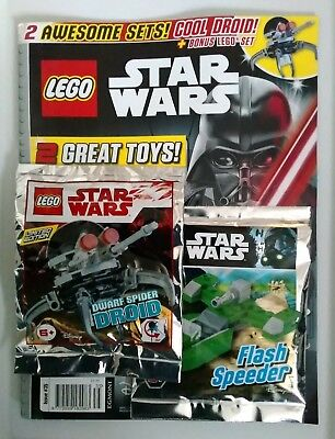 LEGO Star Wars 911835 Dwarf Spider Droid + 911618 Flash Speeder Foil Polybag NEW
