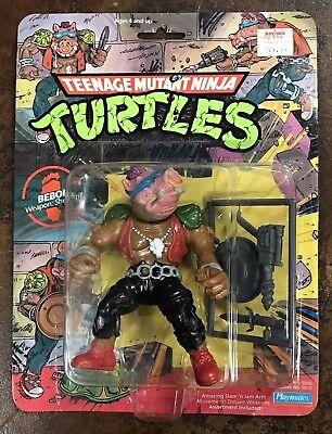 Vintage TMNT Bebop 10-Back 1988 Pink Face Teenage Mutant Ninja Turtles New Rare - Pink Ninja