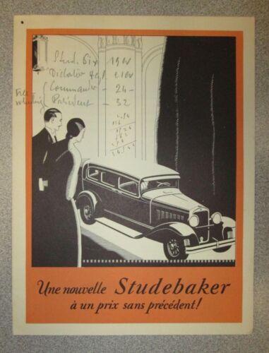 1926 Studebaker Sales Folder (French)