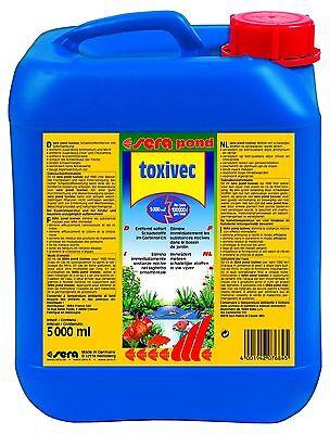 Sera pond toxivec 5000ml - entfernt Schadstoffe im Gartenteich bis 100.000 Liter