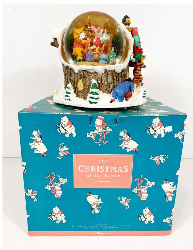 Vintage 1995 Disney Christmas at Our House Musical Snow Globe IOB