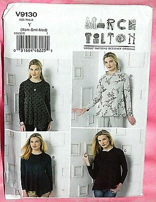 Uncut Vogue March Tilton Misses 4-14 Easy Long Sleeve Pullover Top Pattern 9130