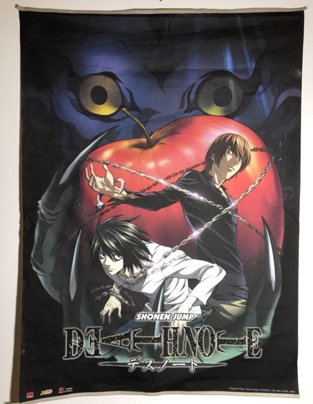 "Shōnen Jump x Death Note Manga ""L vs Kira / Ryuk Apple"" Fabric Banner 43 x 31"