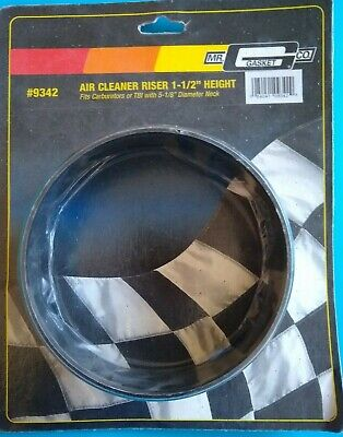 MR GASKET 9342 AIR CLEANER MOUNT  RISER 1 12 HEIGHT   5 18 DIA NECK