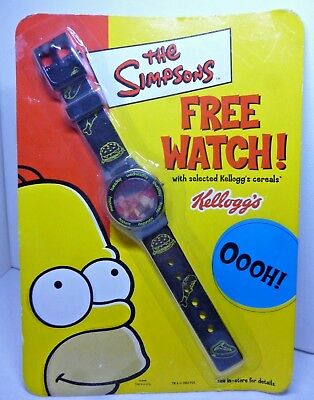 The Simpsons Free Watch Kelloggs Cereals 2002 Fox Sealed Collectable