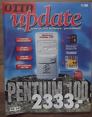 Otto update 1/96, Katalog, PC`s, Zubehör und Software - preisaktuell!