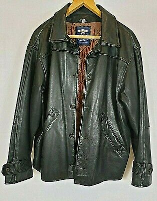 River Island Extra label Rare Brand Male Medium Vintage Leather Jacket  Preowned
