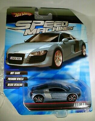 Hot Wheels Speed Machines Blue Silver Audi R8 New in Package NICE!