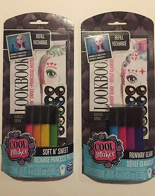 (Lot of 2) Cool Maker Refill Recharge Kits - Hair and (Coole Make Up Kostüme)