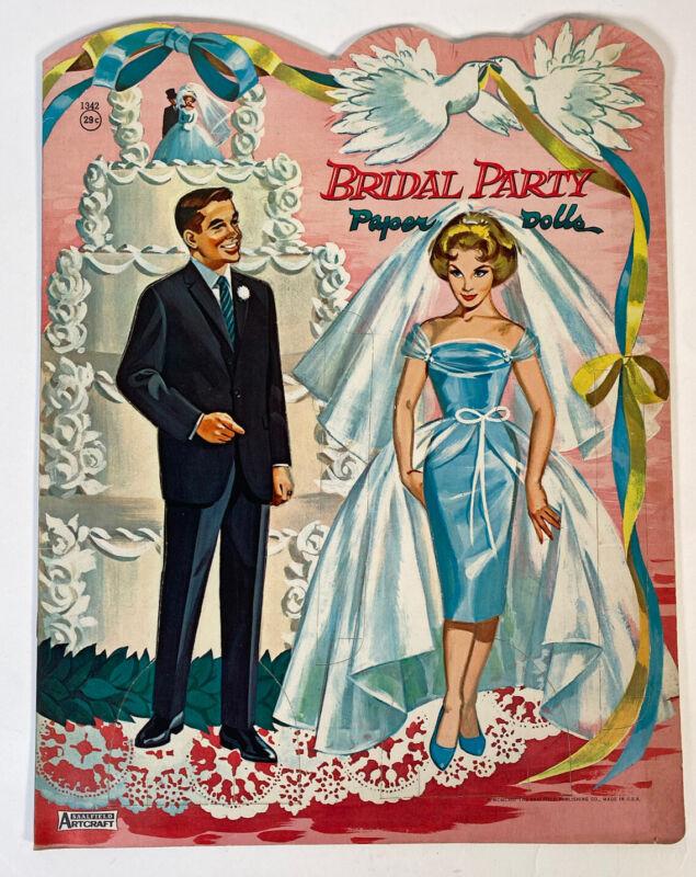 Paper Dolls - Bridal Party Saalfield Publishing Company 1963 Uncut