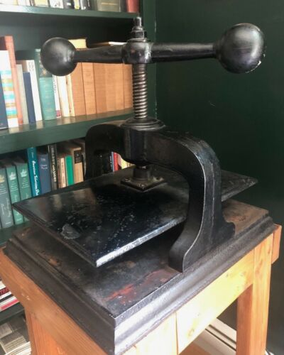 Vintage Antique Cast Iron Book Press