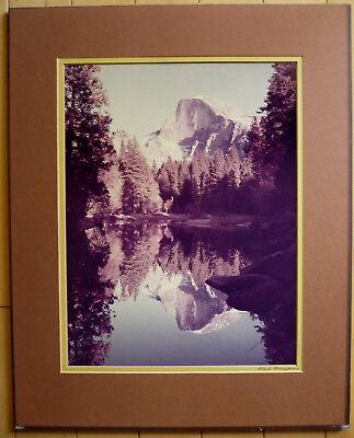KARL BONFERT, COLLECTIBLE VINTAGE YOSEMITE CALIF CA CALIFORNIA PHOTOGRAPH SIGNED