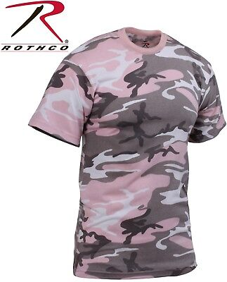Pink Camouflage T-shirt (Subdued Pink Camouflage Tactical Military Short Sleeve Army Camo T-Shirt 8681 )