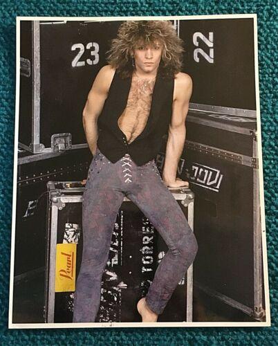 "1980s Vintage : JON BON JOVI ""Original"" 8 x 10 Fan Club PHOTO @ Secret Society"