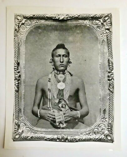 American Indian Silver Gelatin Reproduction from a Tintype at the Smithsonian