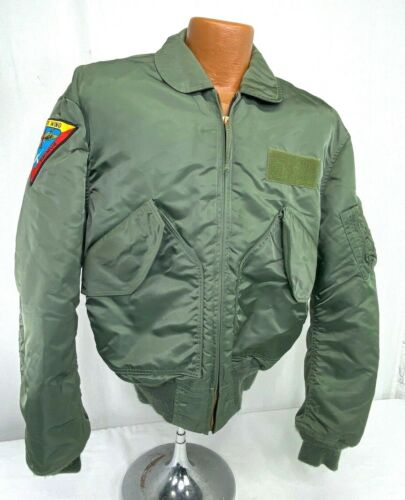 US Navy Patched Flight Jacket
