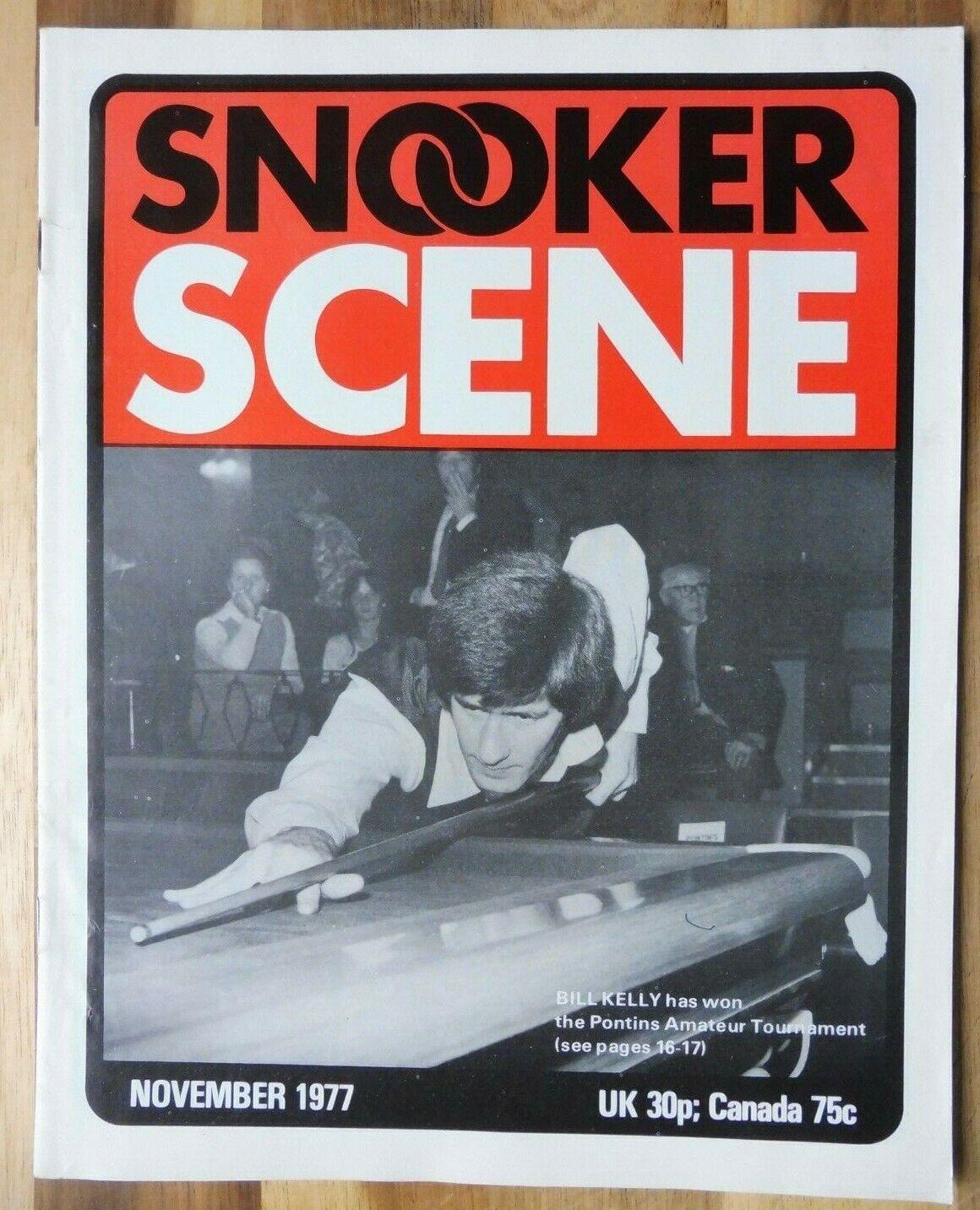 Snooker Scene Magazine, November 1977, Good Condition.