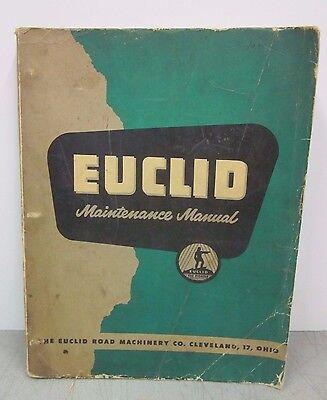 Euclid Maintenance Manual Rear Dump Truck Model 36td Euclid Road Machinery Co.