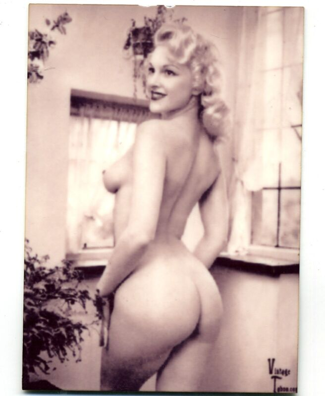 Beautiful SEXY Blonde Topless Girl -  METAL Photo - Vintage Risque Photo