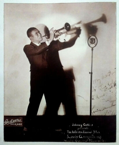Louis Armstrong - Black & White Magazine Poster / Picture - Jazz, Satchmo - RARE