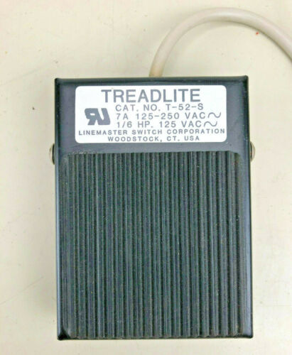 Linemaster Threadlite Foot switch T-52-S -- 125-250VAC