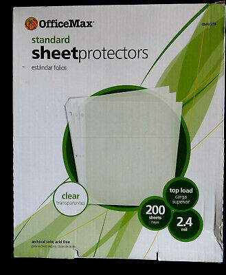 Office Depotmax Sheet Protectors 8 12 X 11 Clear 200 - New Sealed