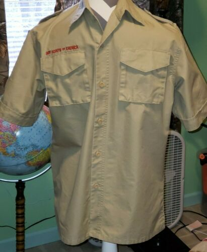 BSA Boy Scouts X-Large Youth Uniform Shirt Cotton Polyester One Owner EXCLNT