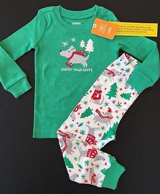Boys Christmas Pj (Gymboree Christmas Boys Pajamas Puppy Dog Gymmies Size 3T 3 NEW)