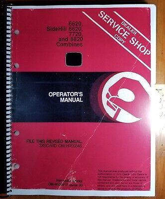 John Deere 6620 Sidehill 6620 7720 8820 Combine Owners Operators Manual 1080