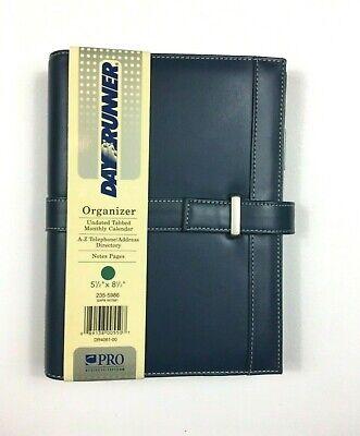 Day Runner 406100 Pro Slimline Refillable Planner Blue Green 5 12 X 8 12 New