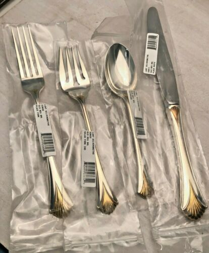 Golden Regency Shell by Lunt Sterling Silver 4 Piece Place Settings, BRAND NEW