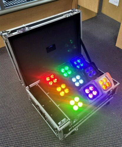 *Chauvet DJ - (9) Freedom Par Hex-4 & Freedom Charge 9 Case Local Pickup Only!