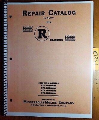Minneapolis-moline R Rtu Rts Rtn Rte Tractor Repair Parts Catalog Manual R-1086c