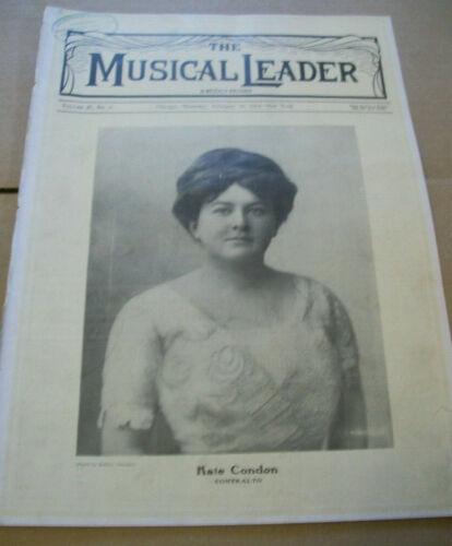 Feb 26 1914 issue The Musical Leader music magazine Kate Condon ads photos etc