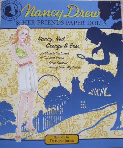 NANCY DREW & HER FRIENDS NED, GEORGE & BESS Paper Dolls w/ 25 Classic Costumes