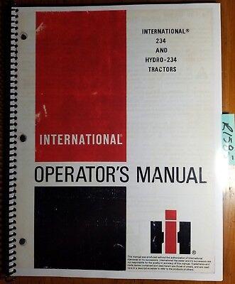 Ih International 234 Hydro 234 Tractor Owner Operators Manual 1258522c3 683