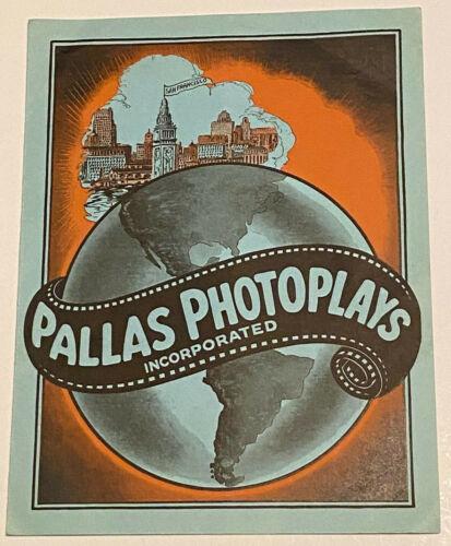 PALLAS PHOTOPLAYS INC Rare 1920s San Francisco Silent Film Studio MOVIE TRADE AD